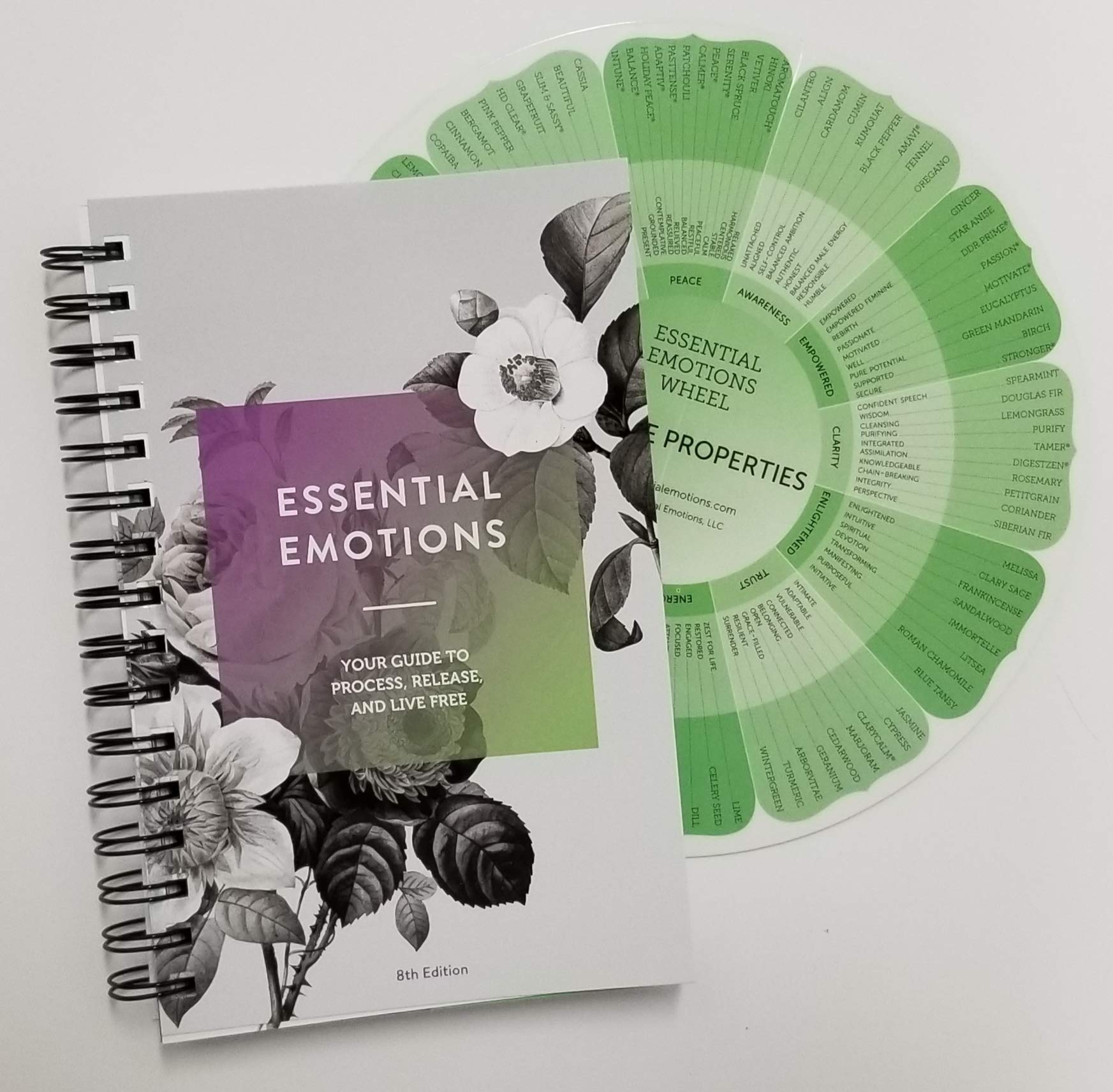 Essential Emotions: Your Guide to Process, Release, and Live Free, 8th Edition Book and Essential Emotions Wheel 2019 Emotions and Essential Oils by Essential Emotions