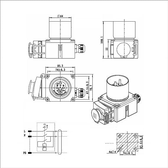 Buze Original Kedu Koa7 Switch 230 V With Emergency Stop Thermal