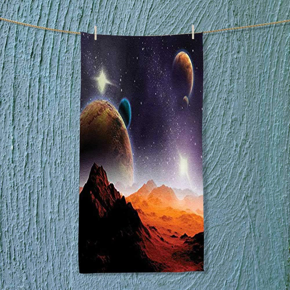 SOCOMIMI Super Absorbent Towel Cosmos Fantasy Decor Solar Sky Nebula Orbit Comet Horizon System Ideal for Everyday use