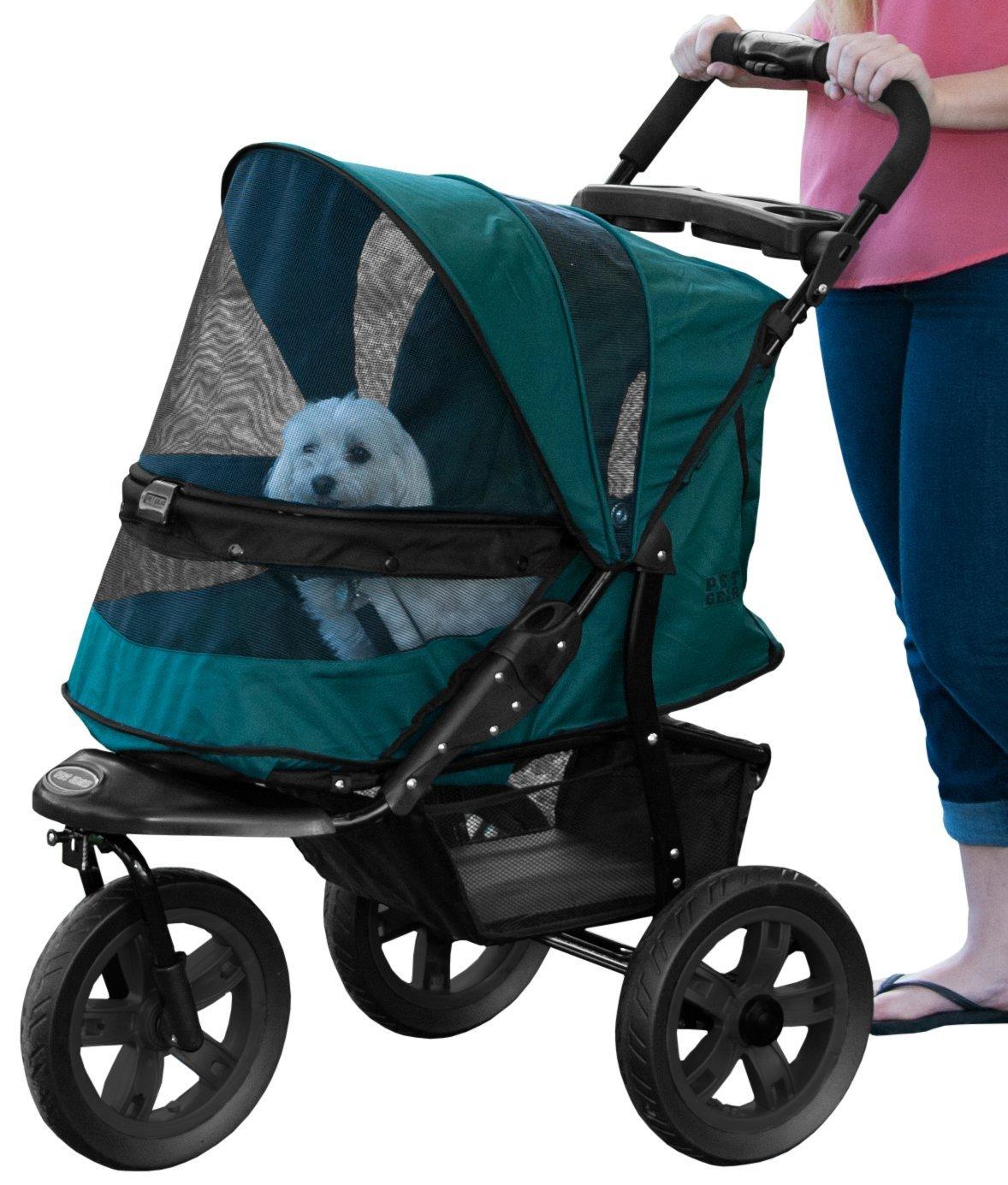 Pet Gear No-Zip AT3 Pet Stroller, Zipperless Entry, Forest Green