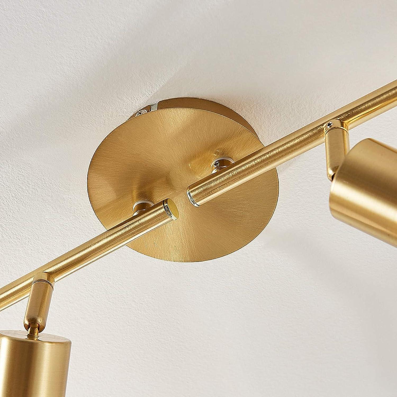 Wohnzimmerlampe 4 flammig, E14, A+, inkl. Leuchtmittel Lindby LED Deckenleuchte Elaina in Gold//Messing aus Metall u.a f/ür Wohnzimmer /& Esszimmer Deckenlampe - Lampe LED-Deckenlampe