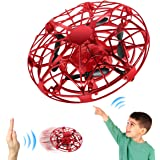 Mini Drone For Kids, Hand Operated Flying Toy With 360° Rotating and LED Light, Easy Indoor Outdoor Hand Controlled…