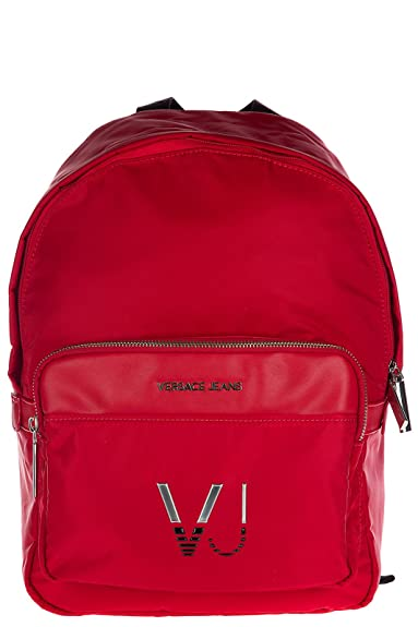 f5f54b152f9a9 Versace Jeans Nylon Rucksack Herren Tasche Laptop Schulrucksack logo vj Rot