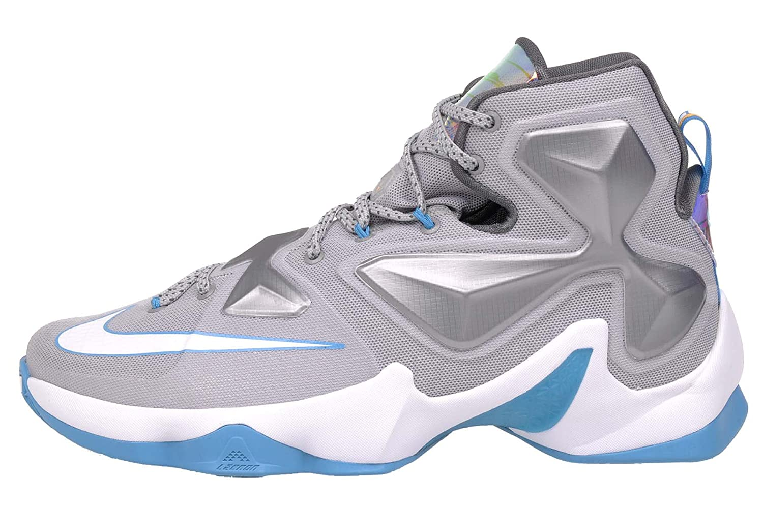 huge discount ae7ae 420e8 Amazon.com   Nike Men s Lebron XIII WOLF GREY WHITE-BLUE LAGOON-DARK GREY  Basketball Shoe - 10.5 D(M) US   Basketball