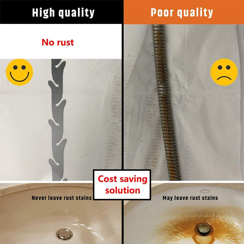 3 unidades Drenaje Clog Remover 27.5 pulgadas Acero Inoxidable Drenaje Snake Hair Catcher Drenaje herramienta de limpieza de drenaje de la Ducha Auger herramienta