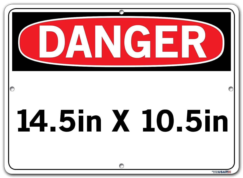 18.5X12.5 ALUM COMP .130 Vestil Spanish Danger Sign SI-D-37-D-AC-130-S ZONA DE CONSTRUCCI/ÓN NO ENTRAR Construction Area Do Not Enter