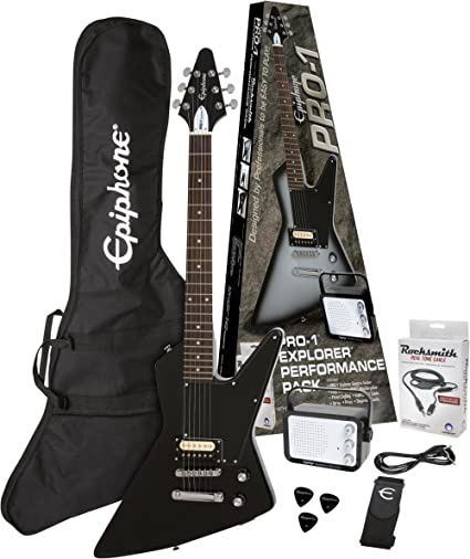 Epiphone – Pro de 1 Explorer Performance Pack Alpine White