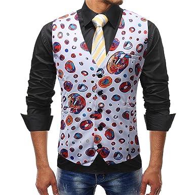e07d922fe50c Men s Floral Printed Suit Vest Dress Vest Waistcoat for Men Tuxedo Vest( Floral