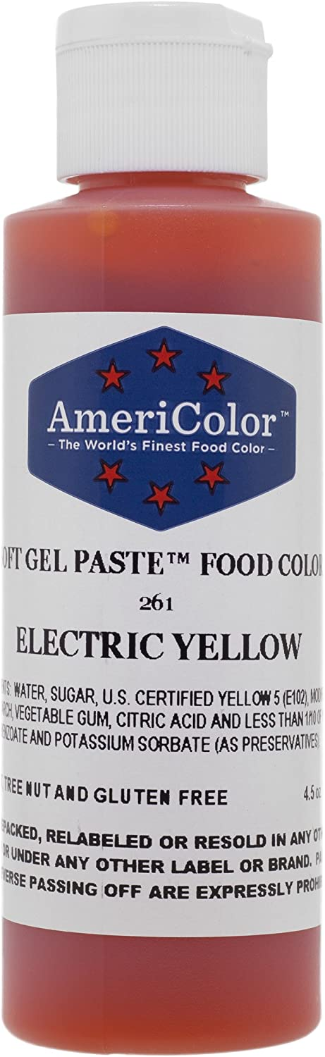 Americolor Soft Gel Paste 4.5 oz. - Electric Yellow