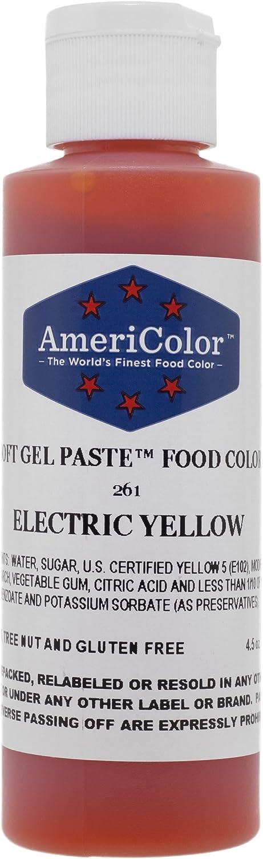 Americolor Soft Gel Paste 4.5 oz. - Electric Yellow