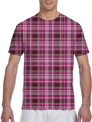 Camiseta clásica de Manga Corta para Hombre con Estampado de ...