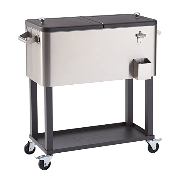 TRINITY TXK-0802 Stainless Steel Cooler with Shelf