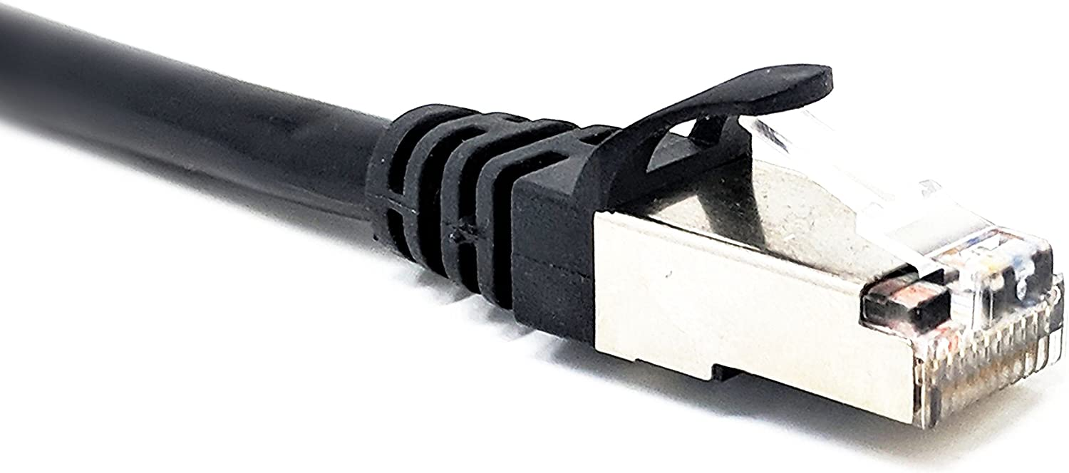 Black RiteAV RJ50 10p10c SFTP CAT5 Male to Male Cable with Shielded Connectors 50 Meter