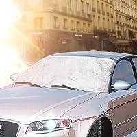 Sonnenschutz Auto,Topist Auto Sonnenschutz Frontscheibe,Sonnenschutz für Windschutzscheibe Autoscheiben Auto-Sonnenschutz UV-Schutz für Baby,Kinder und Hunde,Sonnenblende Auto Blockiere Schädlichen UV-Strahlung und Halten Autos SUVs Kühl-59*46.5inch