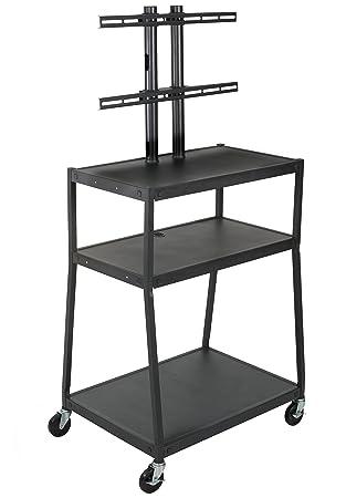 Amazon balt wide body mobile flat panel tv cart av cart balt wide body mobile flat panel tv cart av cart black 67quot sciox Gallery