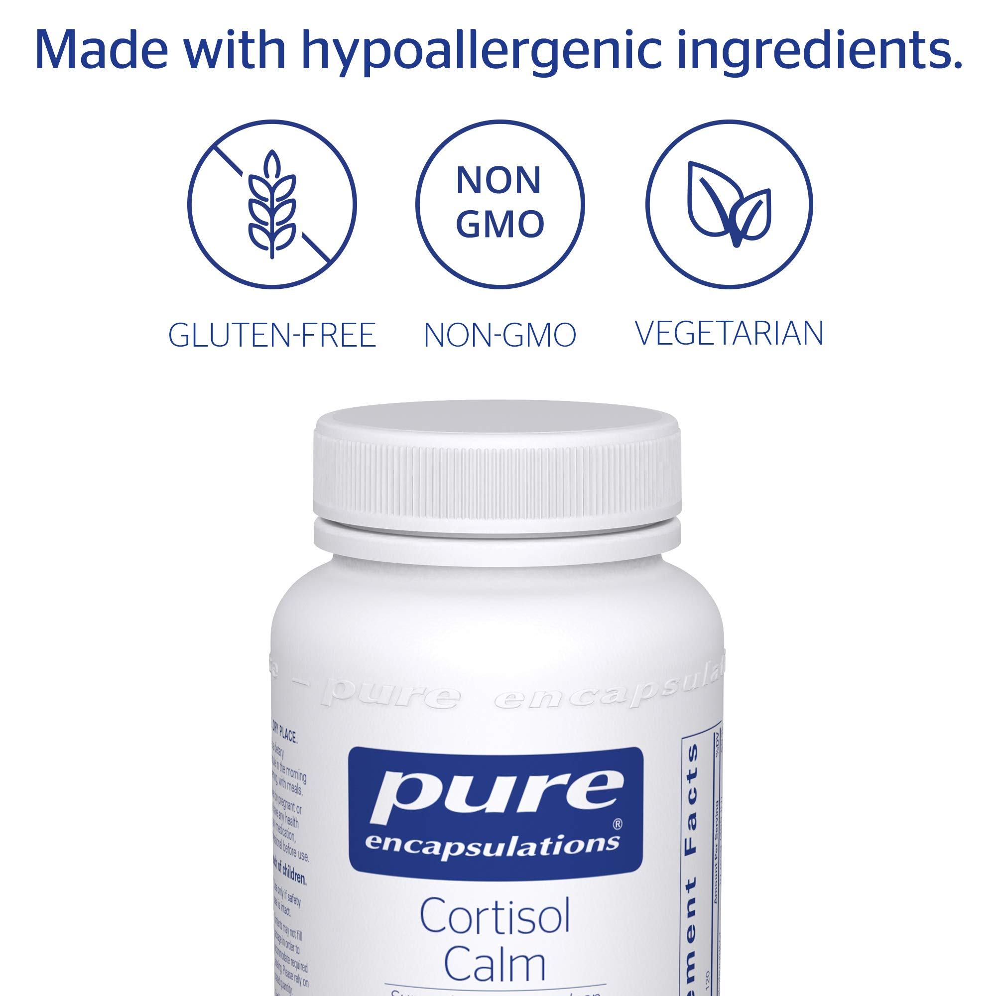 Pure Encapsulations - Cortisol Calm - Hypoallergenic Supplement to Maintain Healthy Cortisol Levels* - 120 Capsules by Pure Encapsulations (Image #4)