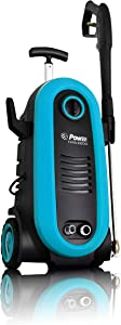 Power 2200PSI New Upgraded Electric Pressure Washer 1.76 GPM - BRUSHLESS Induction Technology - 4X More Lifespan and Ultra Low Sound - Professional Power Washer Machine for Cleaning (Blue)