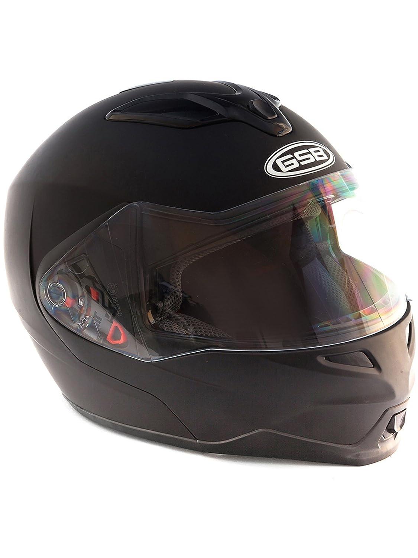 GSB Flip Up DVS Motorcycle Scooter G-339 Racing Road Helmet Matt Black XL 5034862410382