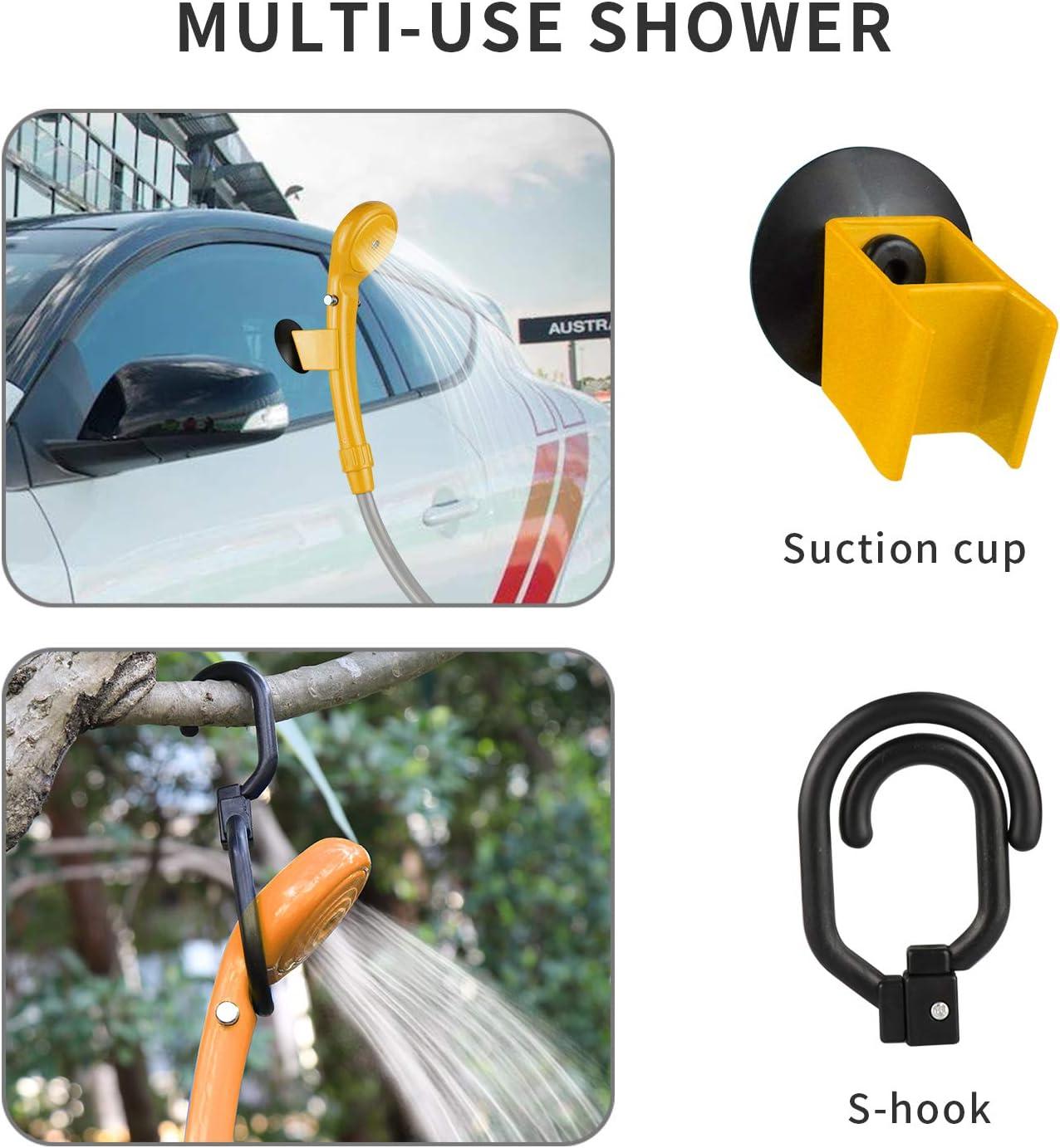 la voiture ou laver le chien LIEBMAYA 12 V Pommeau de douche pistolet pulv/érisateur portable voiture jardin chien id/éal pour le camping