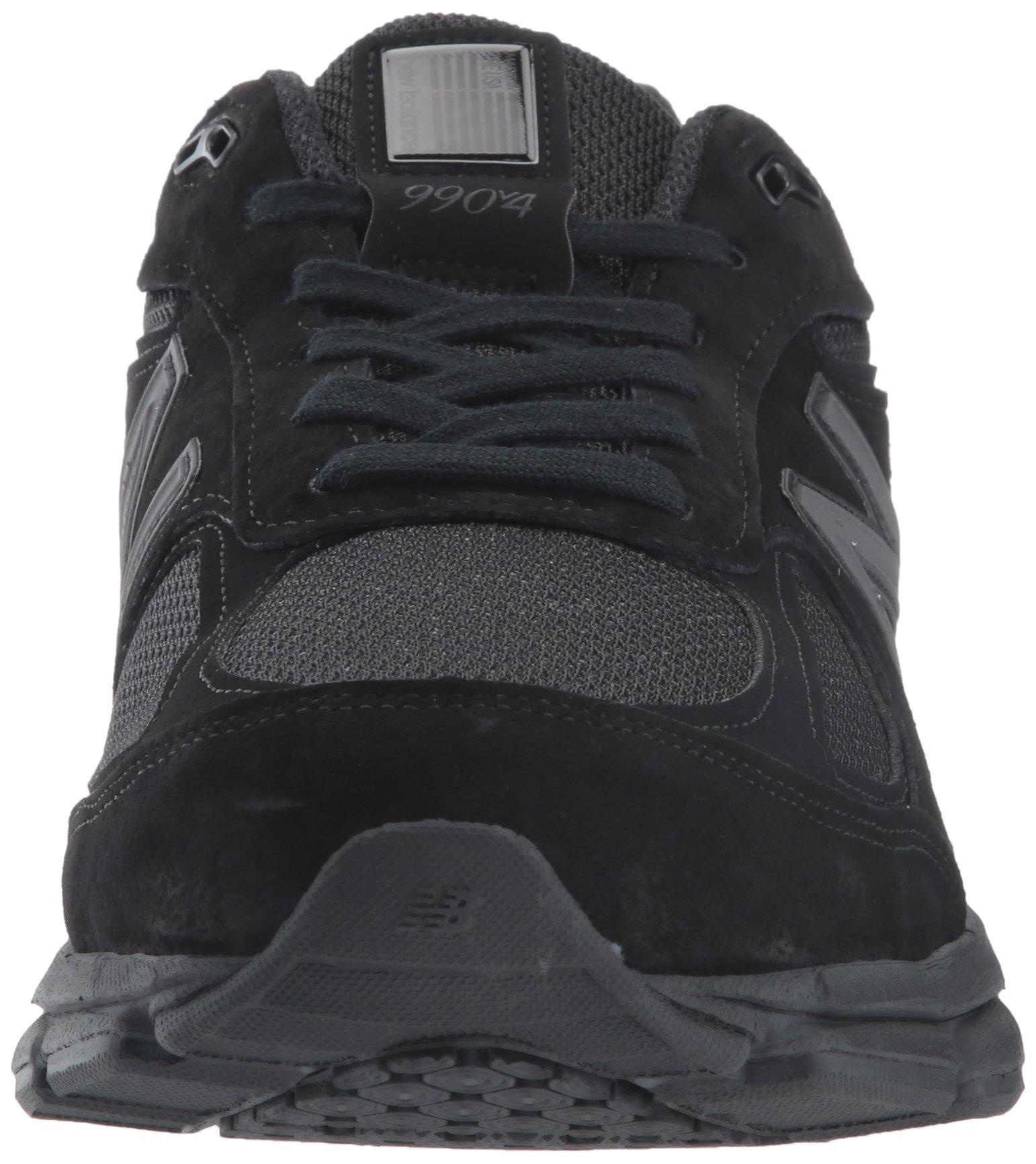New Balance Men's 990V4 Running Shoe, Black/Black, 11 2E US by New Balance (Image #4)