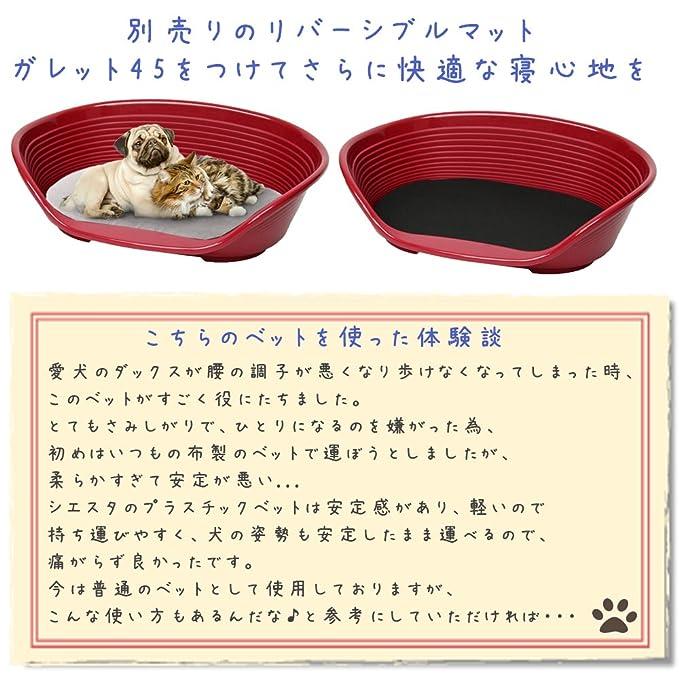 Feplast 70206936 Cama de Plástico para Perros y Gatos Siesta Deluxe 6, Cesta para Animales, Fondo Perforado, Antideslizante, Cómodo Apoyo para El Mentón, ...