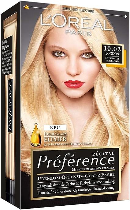 L Oréal Paris Préférence, 10.02 muy claro perlado Rubio (3 ...