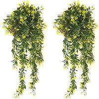 YGSAT® 2 PCS Plantas Hiedra Artificial,Guirnalda Hiedra Artificial