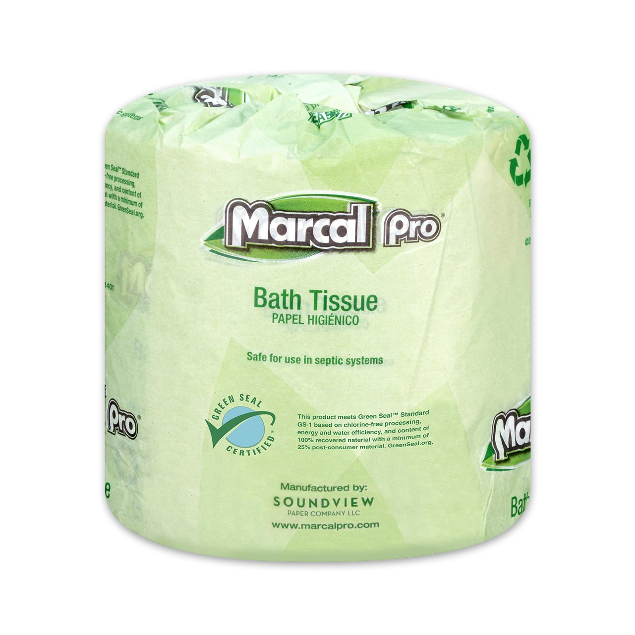 Marcal Pro Toilet Paper, 100% Recycled - 2-Ply, White, 500 Soft & Absorbent Sheets per Roll, 96 Rolls per Case - Green Seal Certified, Bulk Office Bath Tissue 05002 by Marcal (Image #3)