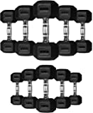 TNP Accessories Rubber Hexa Hex Dumbbells (Pair)Weight Set Solid Dumbbell