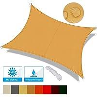 OKAWADACH Toldo Vela de Sombra Rectangular 2 x 3m, protección Rayos UV Impermeable para Patio, Exteriores, Jardín, Color…