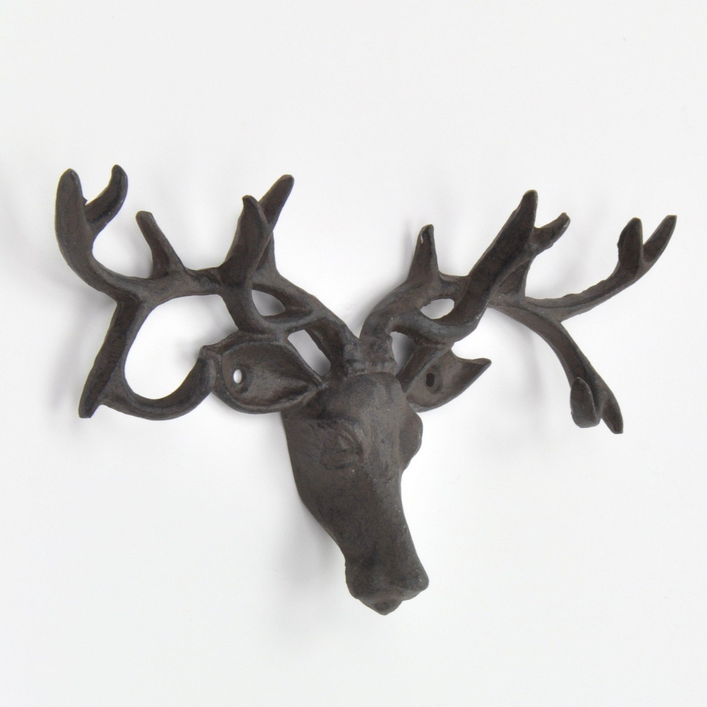 abodent.com Black Deer/Stag Head Antlers Coat Rack, Wall Rack, Coat Hook Rack, Coat Robe Hat Clothes Wall Mounted Hook Hanger (Screws)