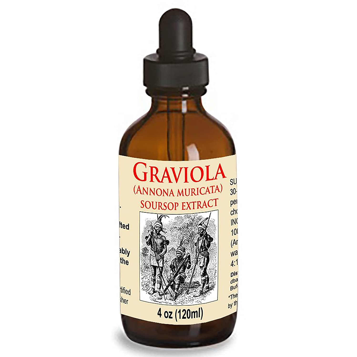 Organic Graviola Liquid Soursop Extract 4 oz Wildcrafted Tincture Annona Muricata Immune System Booster 4oz
