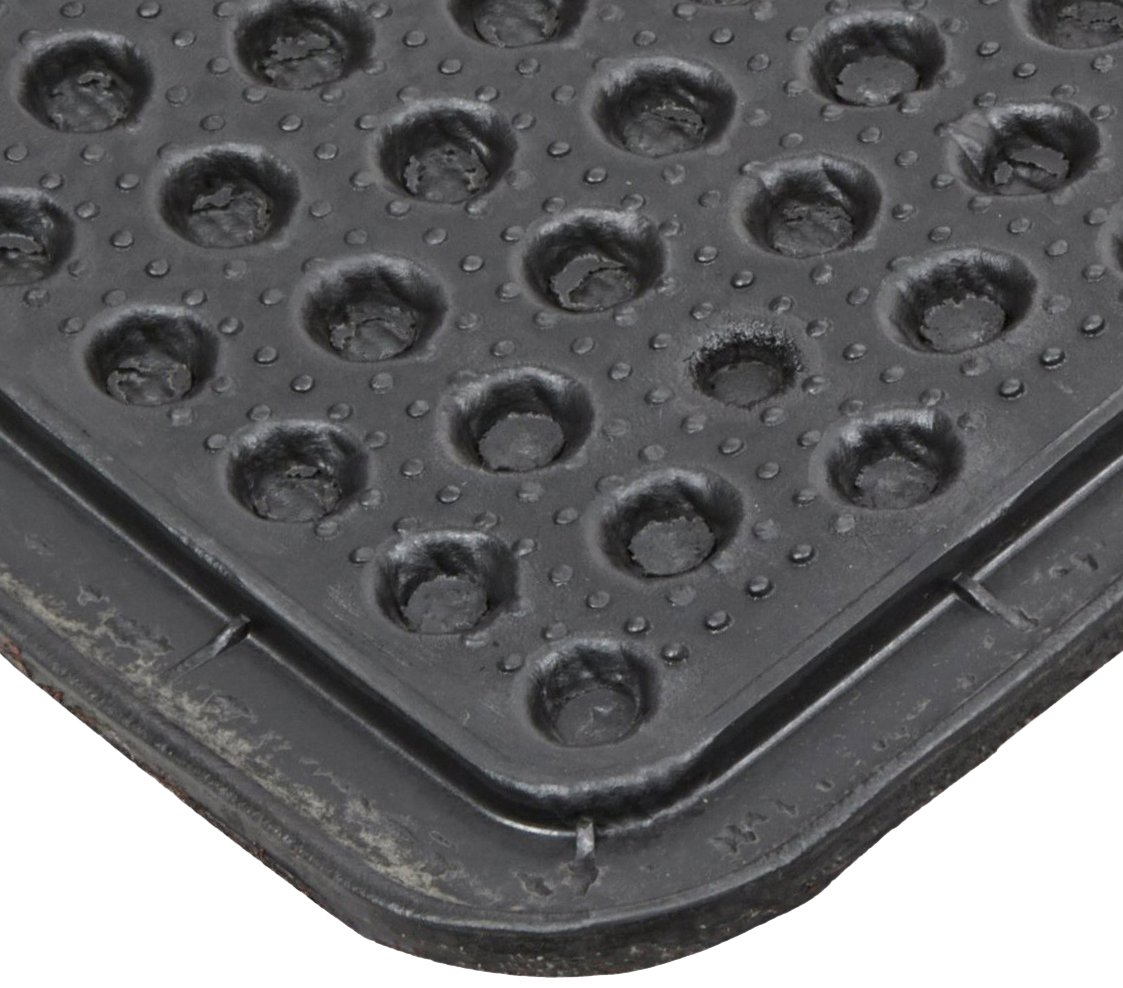 Notrax 150 Aqua Trap Entrance Mat Gray for Main Entranceways and Heavy Traffic Areas 150S0023GY 2 Width x 3 Length x 3//8 Thickness