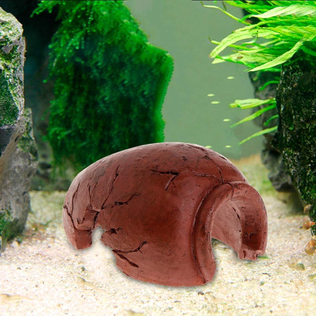 Ncbvixsw New 4 Pcs//Set Aquarium Pot Tile Hide Cave For Fish Tank Reptile Case Toys Resin Decoration Ornament Fish Shrimp Play Decor Artificial Supplies Aquarium Fish Tank Supplies Aquarium Decoration