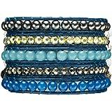 Rafaela Donata - Bracelet en cuir véritable - Perles synthétiques - Cuir véritable hématite, bracelet hématite, collier en cuir véritable, bijoux en cuir, bijoux en hématite - 60831009