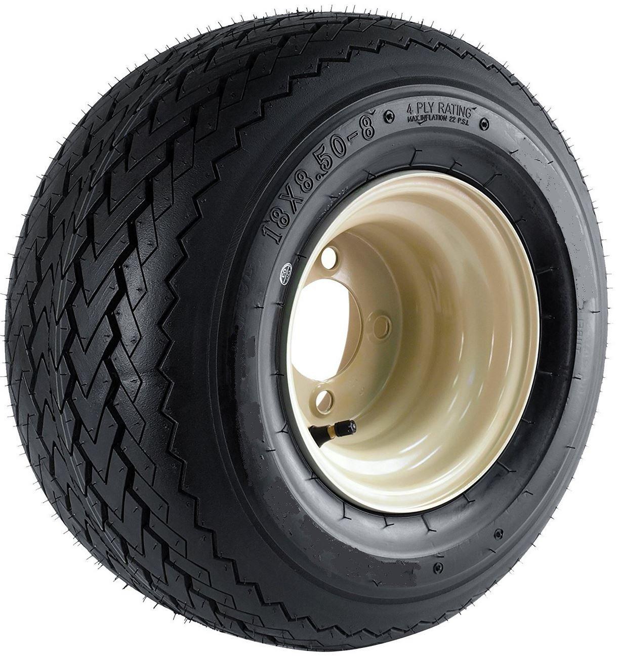 Kenda Hole-N-1 Stone Beige 8'' x 7'' 4-Hole Wheel and (18/8.50-8) Tire Combination