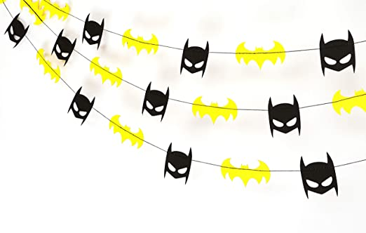 Gifttoys Batman Garland - Birthday Decorations,Party Decorations,Party décor,Creative Decoration