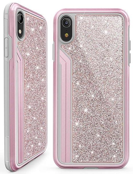 50c33c2c2a Amazon.com: OCYCLONE Cute iPhone XR Case Pink, Luxury Glitter Bling ...