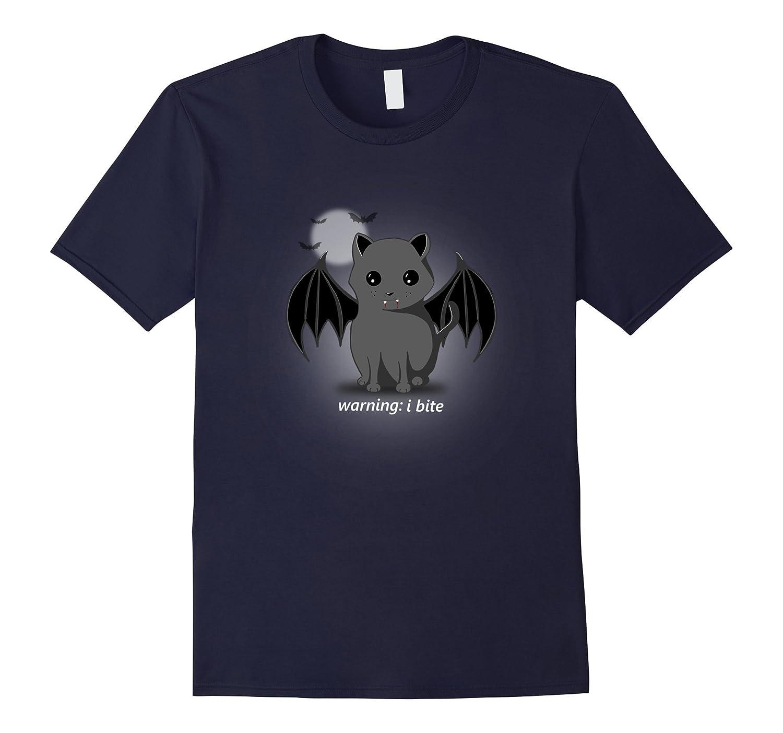 Warning I Bite - Vampire Cat Halloween Shirt, Cute Love-CL