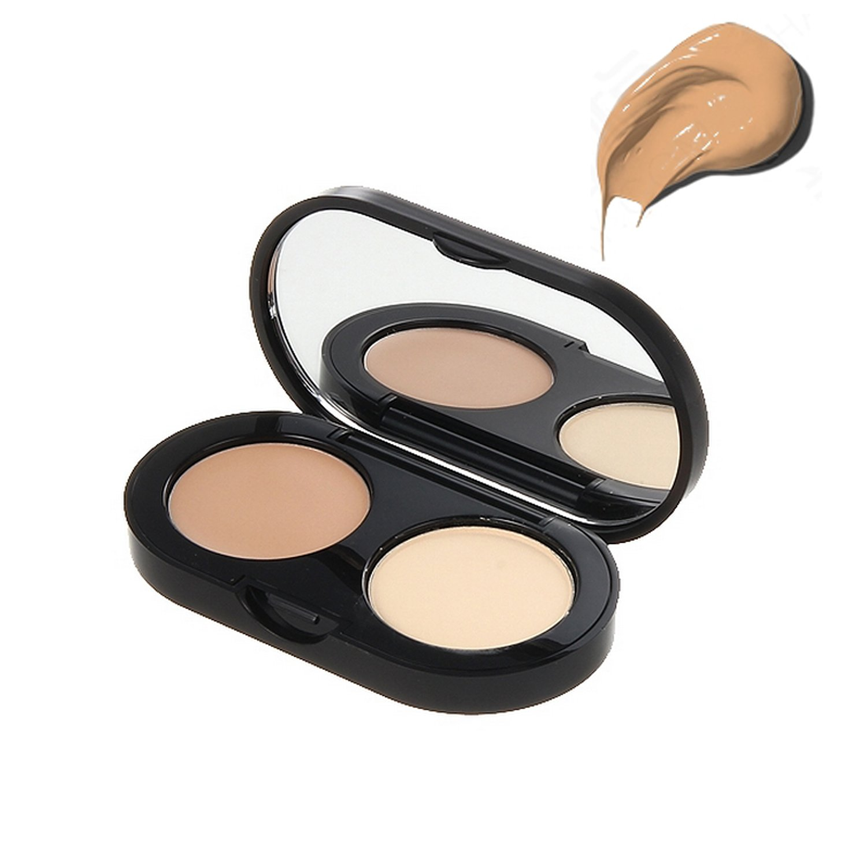 New Creamy Concealer Kit - Natural Tan Creamy Concealer + Pale Yellow Sheer Finish Pressed Powder - 3.1g/0.11oz B004XJAVKI