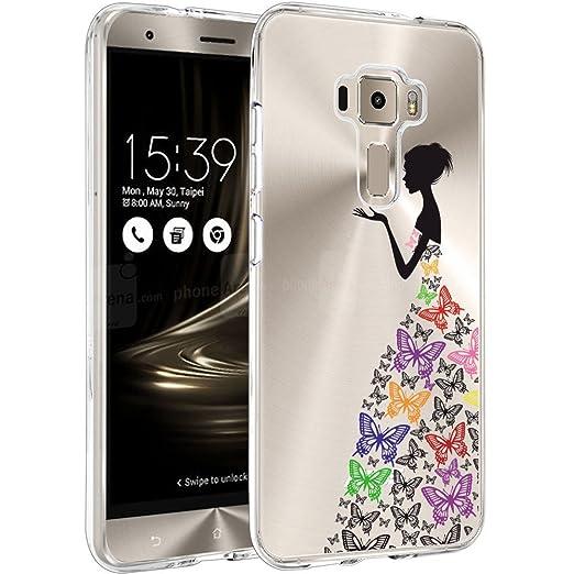 8 opinioni per Asus Zenfone 3 ZE520KL Custodia Cover, WenJie Colore Farfalla Silicone Case TPU