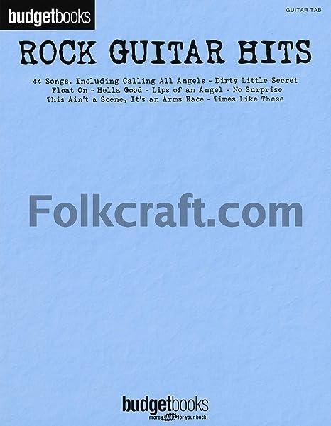 Budgetbooks: Rock Guitar Hits. Partituras para Guitarra, Textos y ...