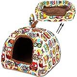 MOACC – Panier dôme 2 en 1 doux et chaud pour animaux domestiques