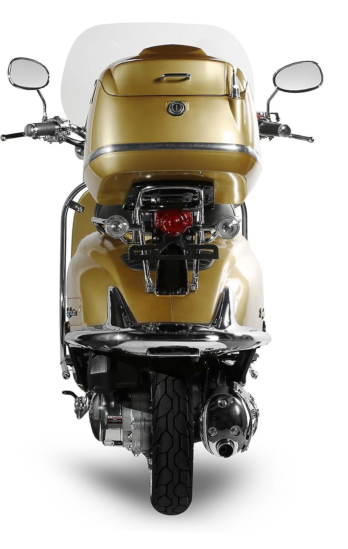 Retro Roller Easy Cruiser Chrom 50 ccm gold Motorroller Scooter Moped Mofa Easycruiser gold