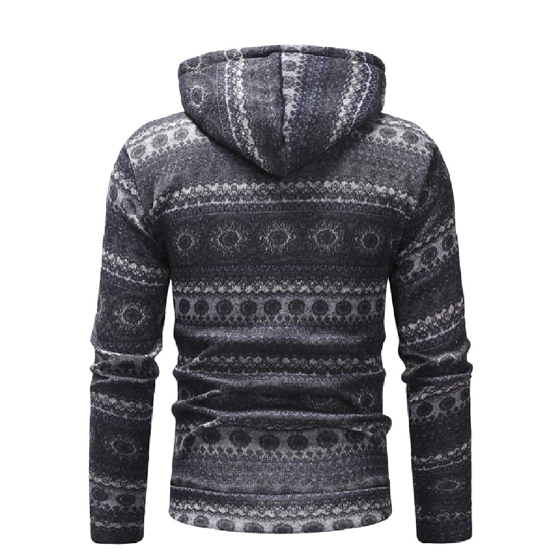 Mfasica Mens Pullover Fashion Relaxed-Fit Printing Pocket Pullover