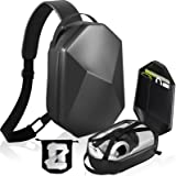 Carrying Case for Oculus Quest 2, Hard Travel Case for Oculus Quest 2 VR Headset and Controllers Acessories Protective Crossb