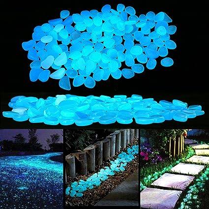 Brilla en la oscuridad jard/ín DIY piedras decorativas piedras