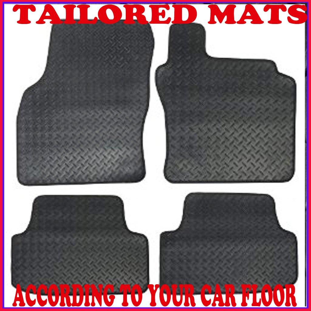LANDROVER DEFENDER 90 /& 110 RUBBER /& BLACK TRIM TAILORED CAR MATS