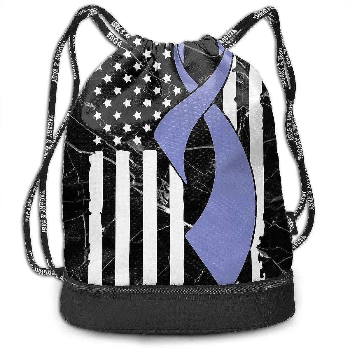 SG0HGO Drawstring Bag Stomach Cancer Awareness Flag-1 Men Women Gym Sport Yoga Rucksack Shoulder Bags