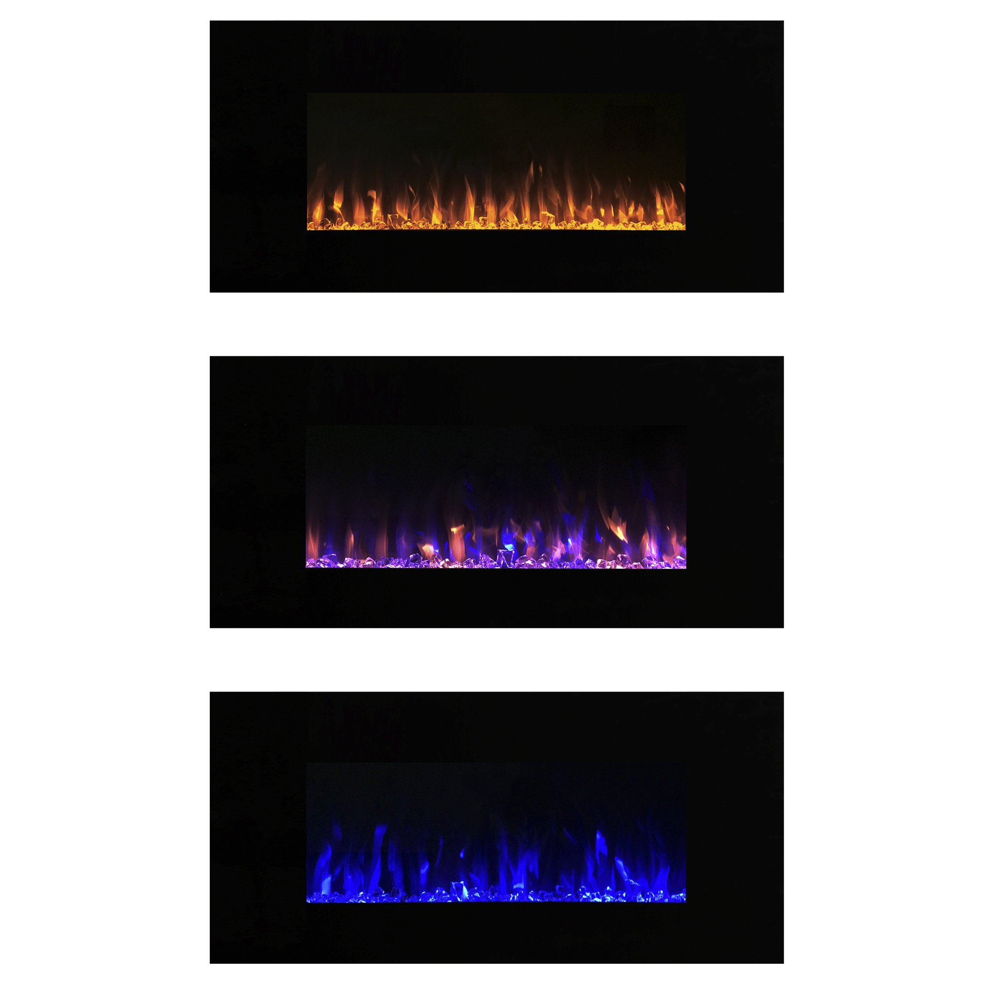 Electric Fireplace Wall Mounted, LED Fire and Ice Flame, With Remote 42 inch by Northwest by Northwest (Image #2)